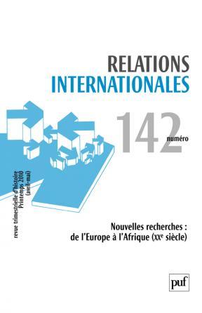 Relations internationales 2010, n° 142