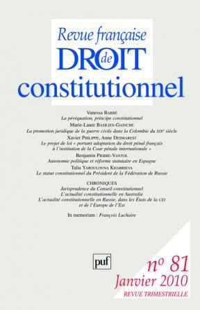 RFDC 2010, n° 81