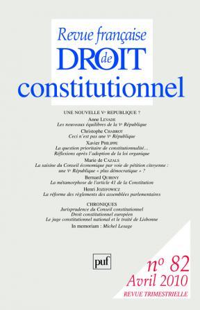 RFDC 2010, n° 82