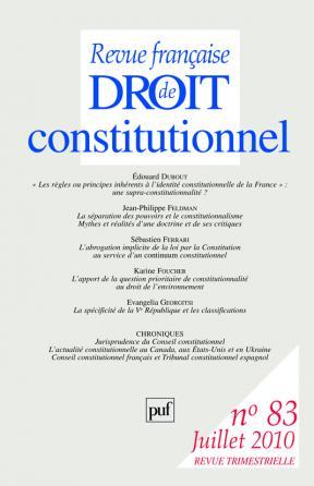 RFDC 2010, n° 83