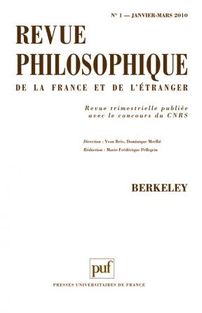 Revue philosophique 2010, t. 135 (1)