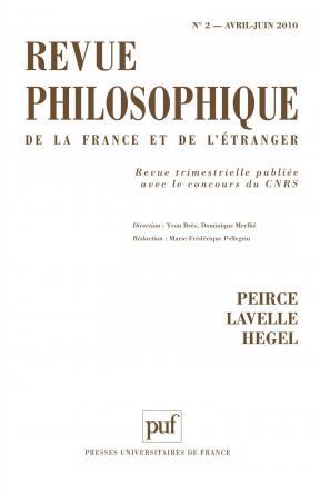 Revue philosophique 2010, t. 135 (2)