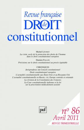 RFDC 2011, n° 86