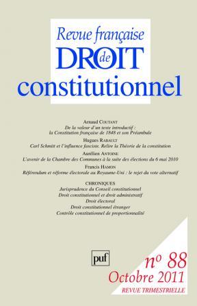 RFDC 2011, n° 88