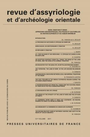Rev. d'assyrio. et d'archéo. orient. 2011, vol. 105