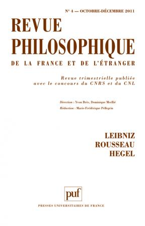Revue philosophique 2011, t. 136 (4)