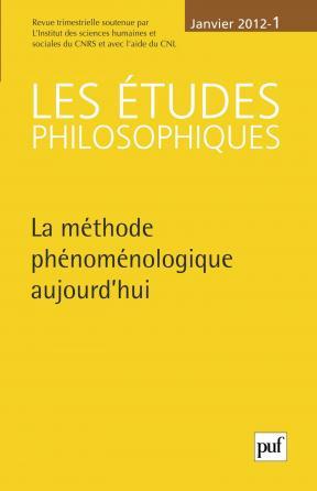 études philosophiques 2012, n° 1