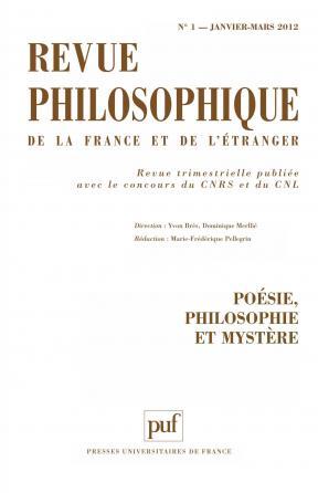 Revue philosophique 2012, t. 137 (1)