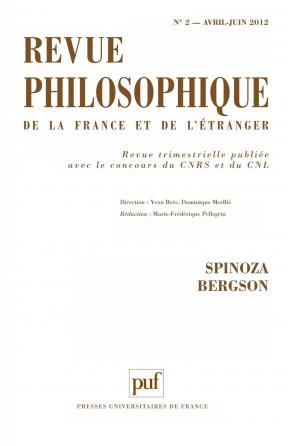 Revue philosophique 2012, t. 137 (2)