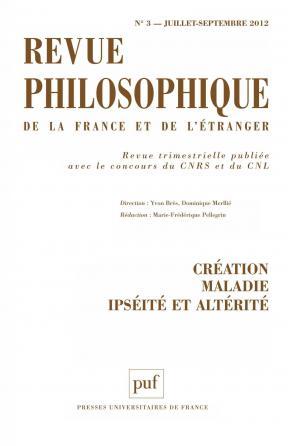 Revue philosophique 2012, t. 137 (3)