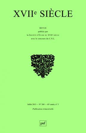XVIIe siècle 2013, n° 260