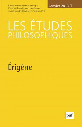 études philosophiques 2013, n° 1