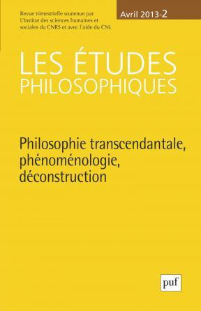 études philosophiques 2013, n° 2