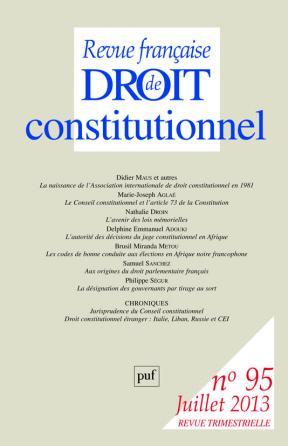 RFDC 2013, n° 95