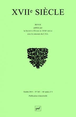 XVIIe siècle 2014, n° 265