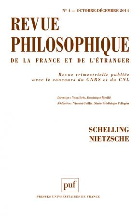 Revue philosophique 2014, t. 139 (4)