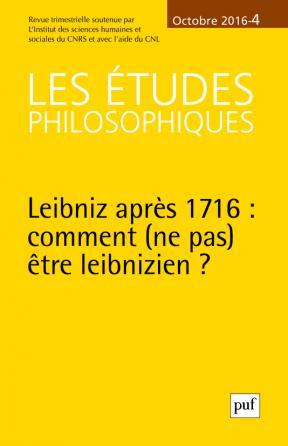 études philosophiques 2016, n° 4