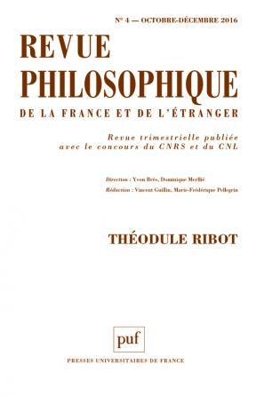Revue philosophique 2016, t. 141 (4)