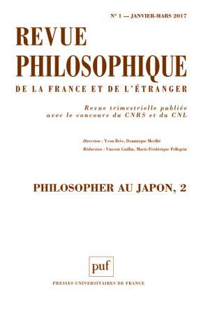 Revue philosophique 2017, t. 142 (1)