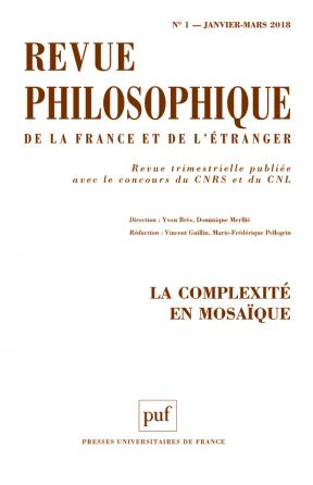 Revue philosophique 2018, t. 143 (1)