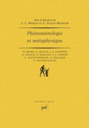 Phénoménologie et métaphysique