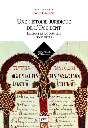 Une histoire juridique de l'Occident (IIIe-IXe siècle)