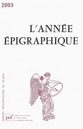année épigraphique vol. 2003