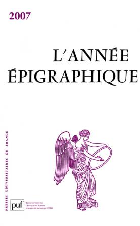 année épigraphique vol. 2007