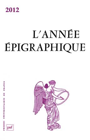 année épigraphique vol. 2012