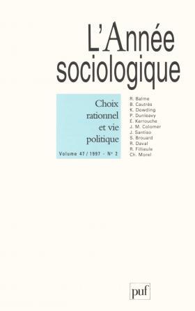année sociologique 1997, vol. 47 (2)