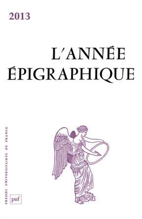 année épigraphique vol. 2013