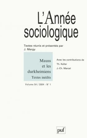 année sociologique 2004, vol. 54 (1)