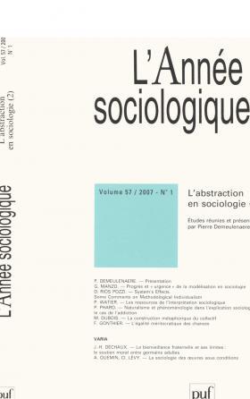 année sociologique 2007, vol. 57 (1)