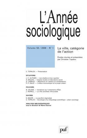 année sociologique 2008, vol. 58 (1