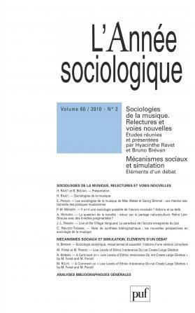 année sociologique 2010, vol. 60 (2)