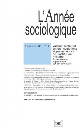 année sociologique 2011, vol. 61 (2)