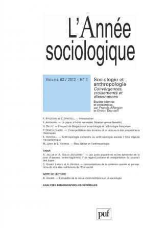 année sociologique 2012, vol. 62 (1)