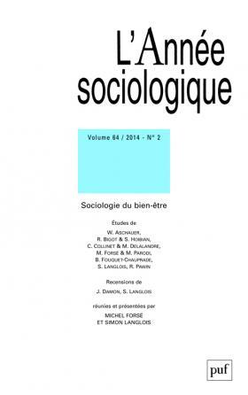 année sociologique 2014, vol. 64 (2)