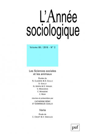 année sociologique 2016, vol. 66 (2)