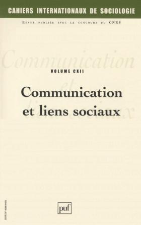 Cahiers intern. de sociologie 2002, vol. 112