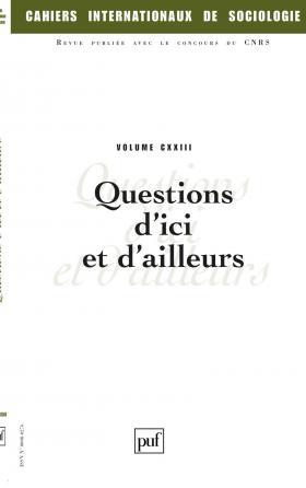 Cahiers intern. de sociologie 2007, vol. 123