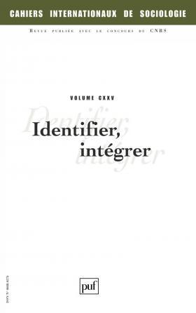 Cahiers intern. de sociologie 2008, vol. 125