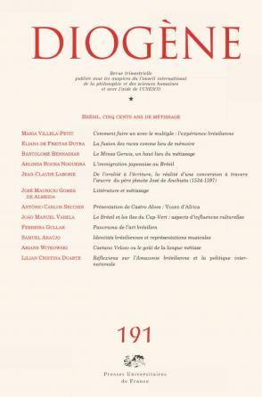 Diogène 2000, n° 191