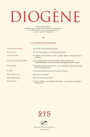 Diogène 2006, n° 215