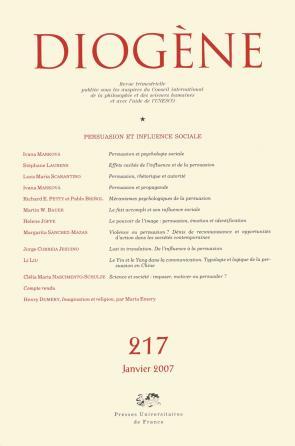 Diogène 2007, n° 217