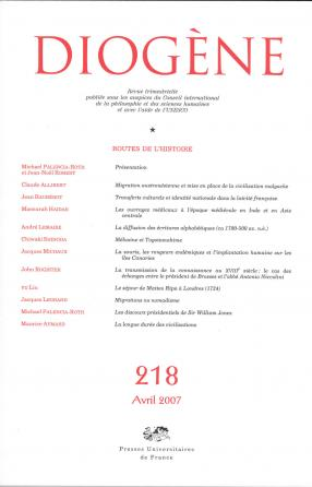 Diogène 2007, n° 218