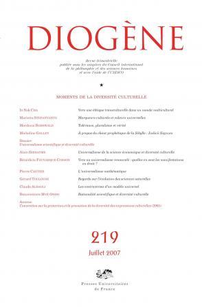 Diogène 2007, n° 219