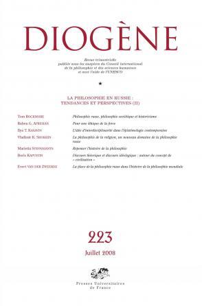 Diogène 2008, n° 223