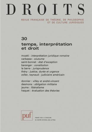 Droits 1999, n° 30