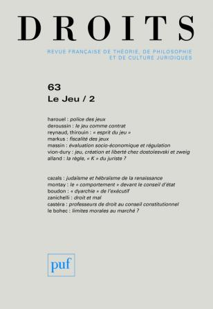Droits 2016, n° 63